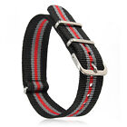 Wholesale 18/20 mm Military Nylon Wrist Band Strap For Watch Metal Steel Buckle