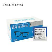 Glasses cleaner 100 pcs wet wipes cleaning lens disposable anti fog misting