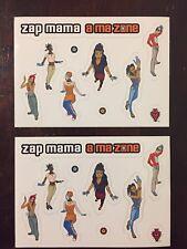 Lot 2 Zap Mama A Ma Zone Promo Only Postcard Stickers 1999 Vintage 90s Luaka Bop
