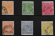 Australia Scott #66-68, 70 & 72-73, Singles 1926-30 Fvf Used