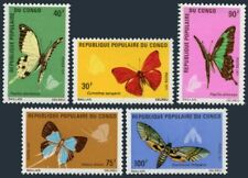 Congo PR 257-261,MNH.Michel 323-327. Butterflies,Moths 1971