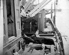 New 8x10 Civil War Photo: Shell Damage on Deck of CSS TEASER, James River