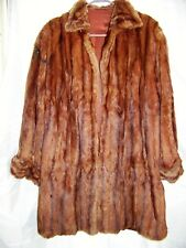 REAL FUR WOMEN'S LONG COAT, SPECIAL HAND MADE RARE AND UNIQUE