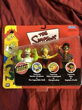 Playmates Toys Simpsons with Homer As the Ingestible Bulk Vampiredna Apu As...