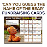 A4 Fundraising Cards - [ Name the Bear! ] - Football Charity Scratch Card Style