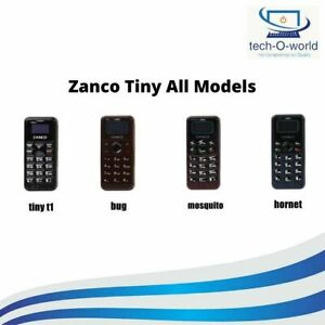 ZANCO TINY MOBILE PHONE WORLDS SMALLEST PHONE GADGET MINI 4 Different Models