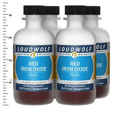 Iron Oxide Red 1 Lb Total 4 Bottles Reagent Grade 25 Micron Powder Usa Seller