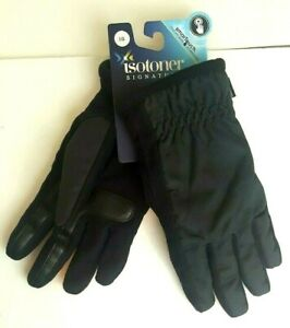 NEW ISOTONER Men SmarTouch Touchscreen Technology Winter Gloves Gray Large $50