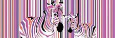 ZEBRAS IN COLOURED STRIPES BARCODE DOOR POSTER (53x158cm)  NEW WALL ART