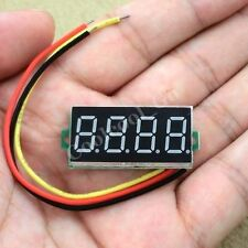 "DC 0-33V Blue 0.36"" LED 4 Digit Digital Voltmeter Voltage Panel Meter"
