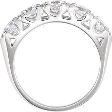 5 Round Diamond Anniversary Ring Wedding Band 0.45 ct each G 2.26 tcw