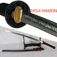 CHOJI Hamon T10 Steel Clay Tempered Handmade Japanese Samurai Katana Sword Sharp