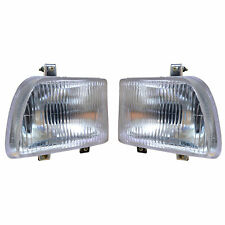 Headlamp Set with 12v Bulbs Suitable for Mahindra Sarpanch Tractor
