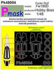 FOCKE-WULF FW190D  PAINTING MASK TO HOBBY BOSS KIT #48004 1/48 PMASK