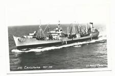 RPPC Real Photo US Navy Photo USS Chuckawan AO-100 Postcard