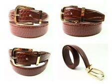 Cinturones de hombre en color principal marrón de metal