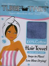 The Original Turbie Twist 100% COTTON Hair Towel PURPLE NEW