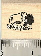 Tiny Bison rubber stamp A9504 WM American Buffalo