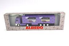 """Albedo Volvo F12 LKW """"Milka Lila Stars"""" 300136 1:87 / H0 OVP NEU NOS"""