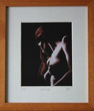 """Desnudo Arte Erótico 8"""" X 10"""" Enmarcado Fine Art Print 'en la luz' por Mark Roberts"""