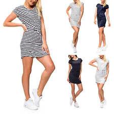 Only Damen Shirtkleid Jerseykleid Print Sommerkleid Kurzarmkleid Strand Kleid %