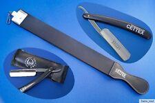 Rasiermesser Set mit Abziehleder/Doppelleder+ Rasiermesser im Etui, Top Qualität
