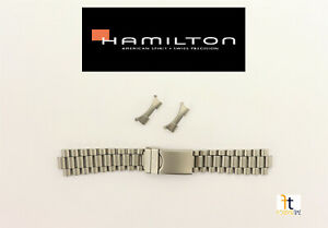 20mm Original Hamilton KHAKI Stainless Steel Matte Band With Curved Ends +2pins
