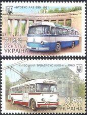 Ukraine 2015 TROLLEY BUS/Lviv Bus Factory/Kiev transport public 2 V Set (n44104)