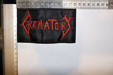 CREMATORY RED LOGO EMBROIDERED PATCH