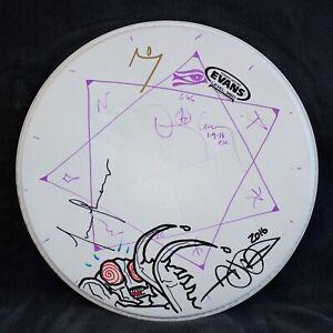 TOOL - band signed drum head merch drawings by Adam Jones & Danny Carey