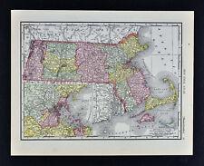 1911 McNally Map - Massachusetts Boston Martha's Vineyard Cape Cod Plymouth Ma