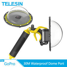 TELESIN 6'' 30M Waterproof Dome Port + Floaty Hand Grip Trigger for GoPro Hero 8