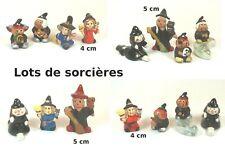 lot sorcières miniature, petite sorcière,collection,vitrine, porte bonheur **G