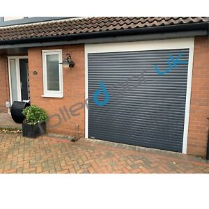 Made To Measure Anthracite Electric Roller Garage Door