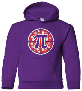Pizza Pi Youth Hoodie Sweatshirt Cute Funny Math Symbol Nerd Pie Gift