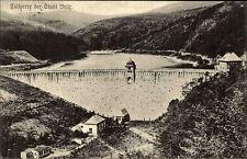 Brür Tschechien s/w Ansichtskarte 1925 Talsperre Blick auf die Staumauer Stausee