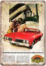 "1969 - Oldsmobile Cutlass Supreme - 10"" x 7""  Wall Art Metal Sign"