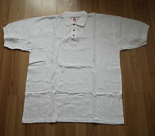 Neu Hanes Classic Top Polo-Shirt Polohemd T-Shirt Tee white weiß Gr. XXL