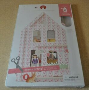 """Lille Huset Cardboard Cutout Dollhouse """"ENGLISH COTTAGE"""" (NEW)"""