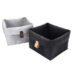 Pretty Felt Storage Basket Closet Toy Laundry Bag Shelf Box Organizer LE