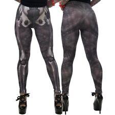 Women's Skele-Bone Leggings Black Death Kreepsville Gothic Horror Fashion