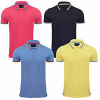 Mens Designer Polo Shirt by Brave Soul 'Warsaw' - 100% Cotton