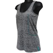 Oakley Workout Tank Womens Size XS Grey Marle Singlet Sports Running Yoga Top