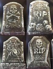 4-Foam Tombstone Halloween Graveyard Cemetary Prop Decoration Lawn Yard Decor