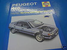 PEUGEOT 405 1988-96' All Models J.H. Haynes Manual Vgc!