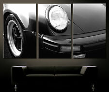 BIG VINTAGE FRONTAL DETALLES PORSCHE 911 TURBO Cuadro Lienzo Pared Lounge Arte