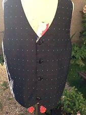 Zighi Black Satin Waistcoat Size 10