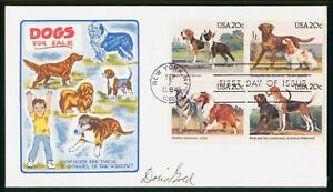 MayfairStamps US FDC Sealed 1984 Block Dogs Doris Gold First Day Cover wwp68387