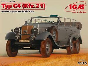 ICM35538 - ICM 1:35 - Typ G4 (Kfz.21), WWII German Staff Car