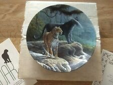 Edwin Knowles China Vintage 1989 The Jaguar Collector Cat Plate Certificate Of A